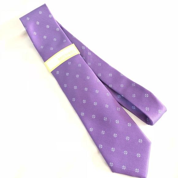 🔥NEW!!🔥 Michael Kors Eggplant 100% Silk Tie